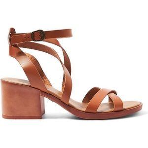 "TOPSHOP ""Dizzy"" Leather Strappy Block Heel Sandals"
